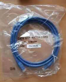 CAT6 RJ45 High Speed Ethernet 2m and 3m patch leads