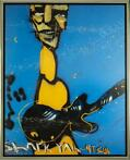 Herman Brood | Giclée: Guitarman Blue | Afm: 100cm x 125cm