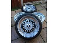 """5x120 18"""" Konig Staggered BBS rep alloy wheels BMW T5"""