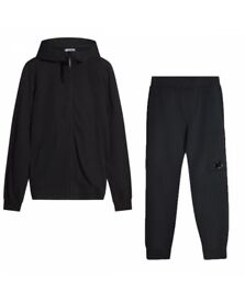 CP COMPANY HOODED SWEATER TRACKSUIT IN BLACK AW 17