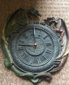 Nemisis Now Dragon Mirror & Clock £18 each or both £30