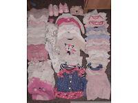Baby girl 0-3 clothing bundle