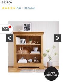 Brand new solid oak bookcase bargain