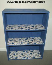 refurbished blue ink booscase