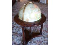 "Vintage Replogle 16"" Heirloom Illuminating Floor-standing Globe with Stand"