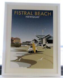Fistral Beach Print 60 x 90cm