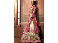Orphic Cream And Pink Lehenga Choli