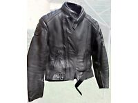 Frank Thomas two-piece motorcycle leather suit - great protection, hardly worn