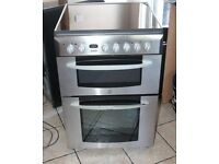 6 MONTHS WARRANTY Indesit 60cm, double oven electric cooker FREE DELIVERY