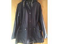 Navy F&F Size 16 Hooded Coat