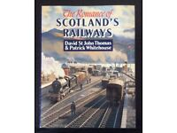 RAILWAY BOOK. THE ROMANCE OF SCOTLAND'S RAILWAYS BY DAVID ST JOHN THOMAS AND P. WHITEHOUSE FOR SALE