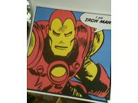 Large Iron man canvas picture, wall art