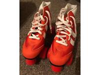 Rookie retro red roller skates size 4