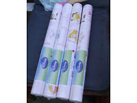 4 rolls of Disney royal princess frames wallpaper.