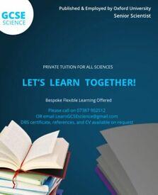 Private Tutor GCSE Science