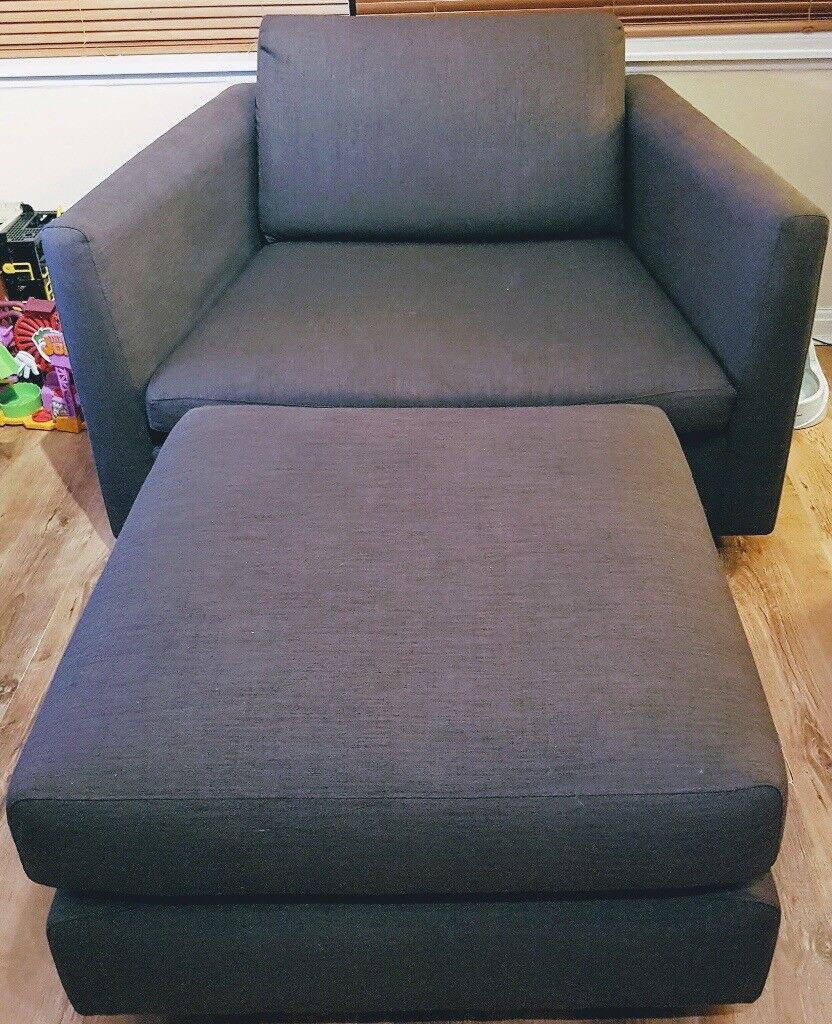 JohnLews 'Snuggle' chair and footstool