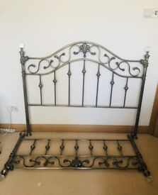 Brass antique style bedhead/ headboard and end