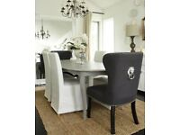 Lion Knocker Chairs (Grey) dining/sitting room/dressing table
