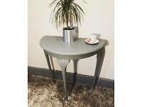 Mid grey half moon hall table
