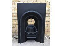 Antique Cast Iron Fireplace / Fire Grate / Vintage Fire Place / Fire surround #