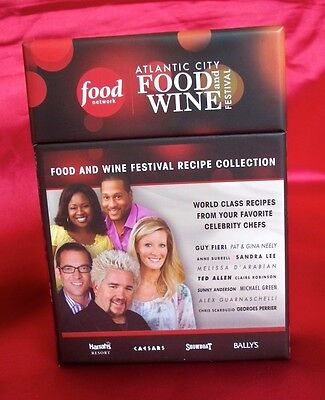 Food Network Atlantic City Festival Recipe Cards   More