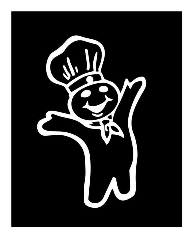 Pillsbury Dough Boy 4 x 6  VINYL CAR WINDOW BUMPER DECAL STICKER 4 X 6 FAT BOY