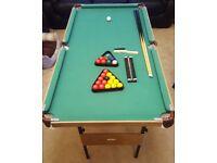 Folding Pool Table 140cm x 75cm
