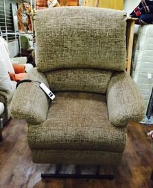 Sherborne large electric lift & recline chair immaculate condition