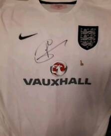 Harry Kane hand signed England shirt with Coa