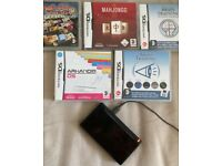 Black Nintendo DS Lite with 5 games and charger