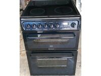BLACK HOTPOINT CREDA 60cm ELECTRIC COOKER, EXCELLENT CONDITION COMES WITH FOUR MONTHS WARRANTY