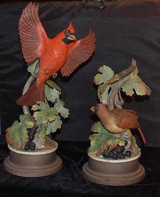 Fabulous 1955 Boehm Limited Edition Porcelain Pair of Cardinals w/Base  #415