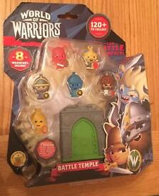 World Of Warriors Battle Temple Collectible Figures (pack of 8)