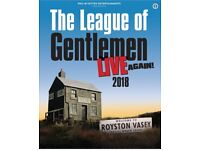 2 X The League Of Gentlemen Live Again Tickets at Sunderland Empire Dress Circle Row D