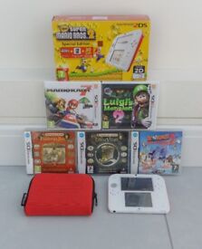 Nintendo 2DS, Mario Kart 7, Luigi's Mansion 2, Professor Layton, & more BUNDLE!
