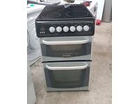 6 MONTHS WARRANTY black / silver Cannon 50cm, fan assisted electric cooker FREE DELIVERY