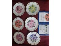 Decorative plates from The Queen Mother's Favourite Flowers Royal Albert collection