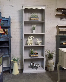 Tall Painted Pine Bookcase