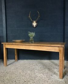 Antique Country Farmhouse Kitchen Dining Table