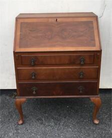 Edwardian style walnut bureau