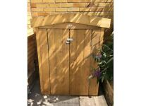 Garden Tool Shed with Security Latch and Padlock