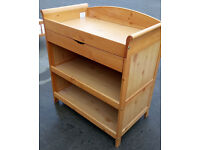 Quality Pine Changing Unit with 2 Shelves & 1 Drawer
