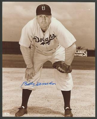- BILLY HERMAN signed 8x10 photo (DODGERS - AUTOGRAPH) HOF!