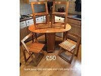 Space saver dining table