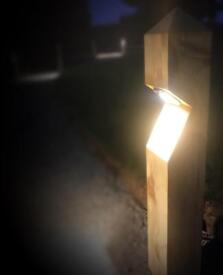 Wooden lighting post
