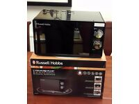 Microwave - Russell Hobbs Colours Plus+ Jet Black Compact 700W 17L