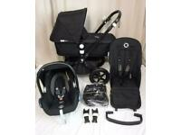 Bugaboo cameleon 3 true black limited edition travel system. Pram . Buggy . Pushchair. Stroller