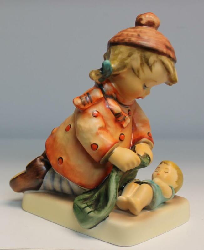 "Goebel Hummel Figurine Sleep Tight HUM 424 TMK6 4 1/2"" Tall"