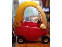Cosy coupe car .push along toy slide.