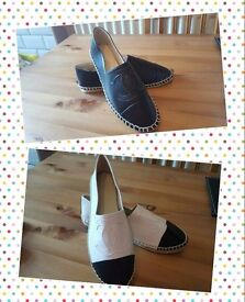Chanel style espadrilles. Any size